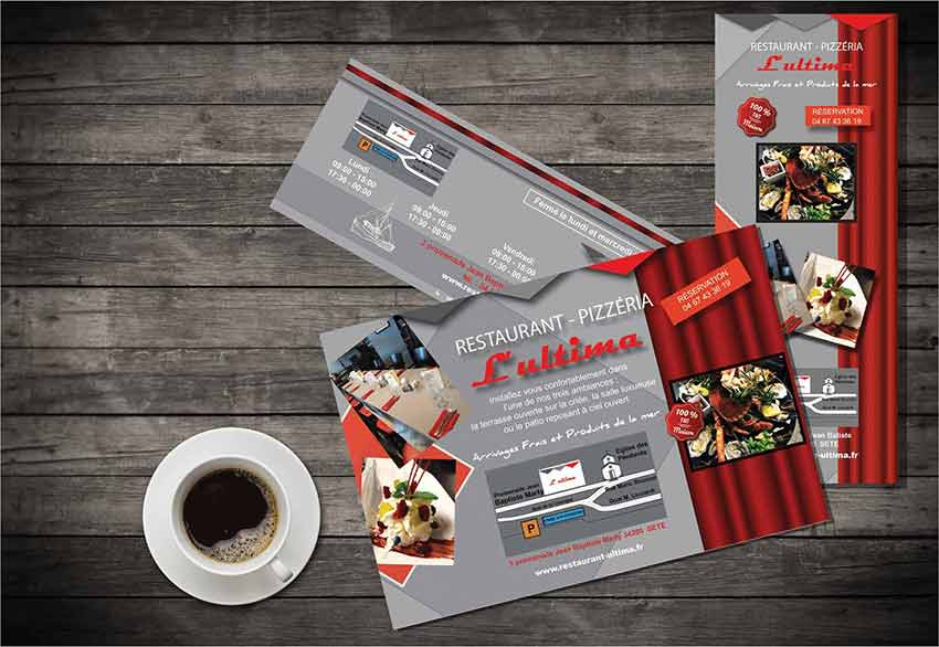 Restaurant Ultima communication papier
